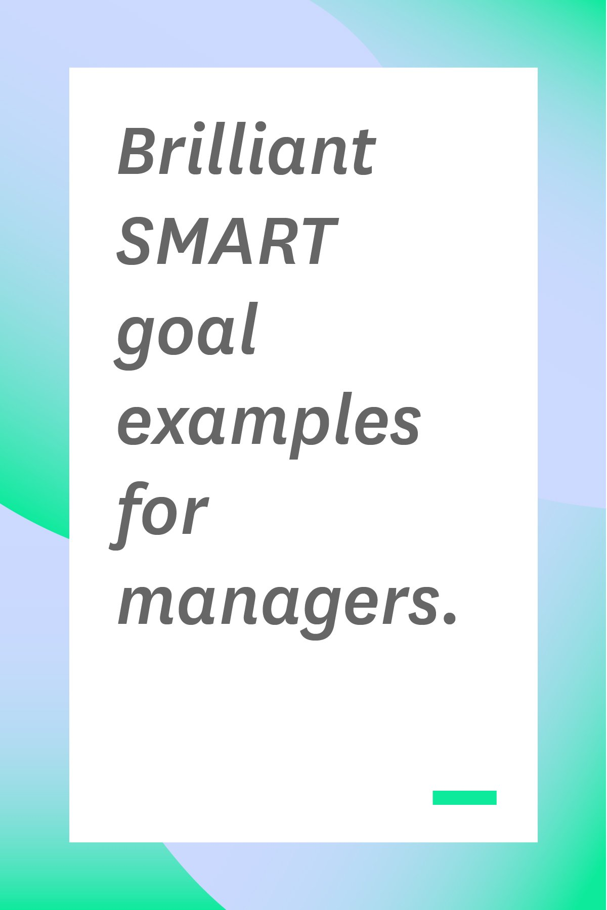 Does your team need SMART goals? These SMART goal examples will help you write your own goals more effectively, so your team can be more effective too. #smartgoals #goalsetting