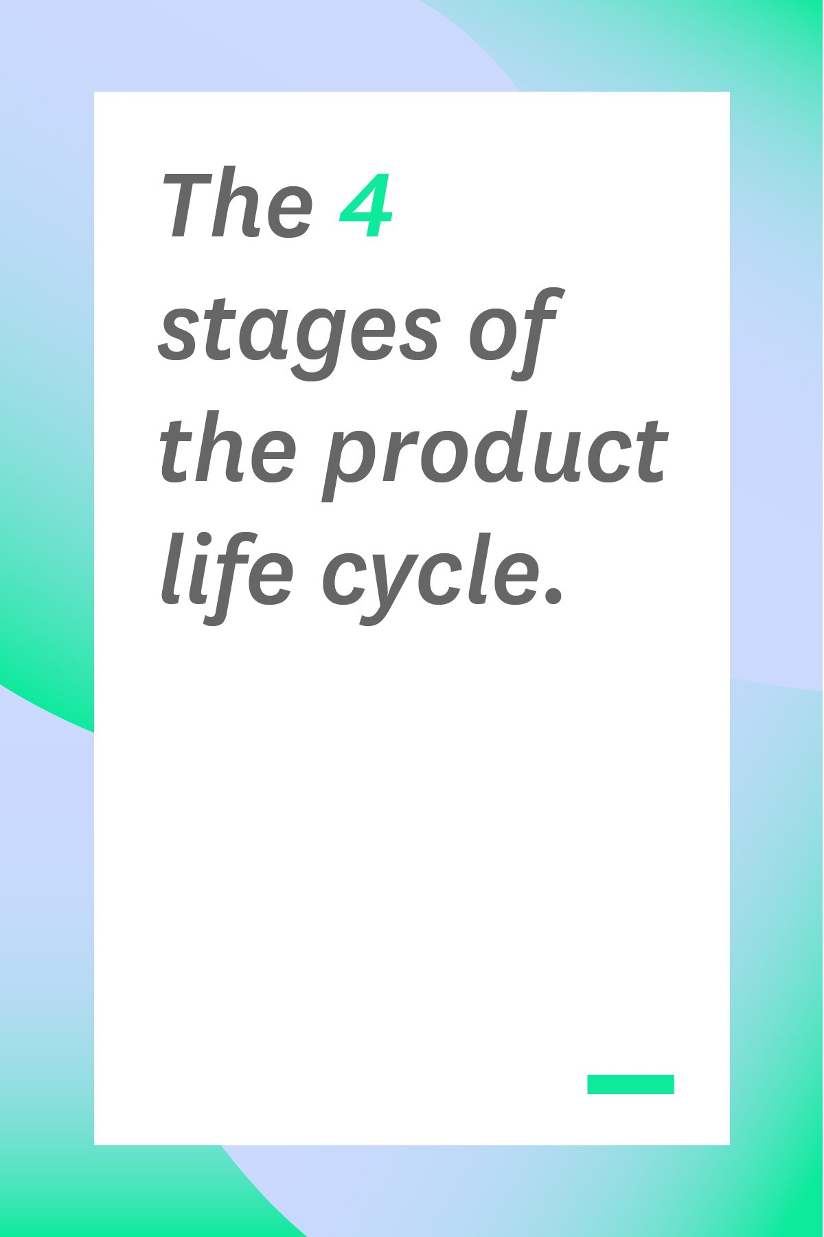 The product life cycle not only explains how sales trends work over the lifetime of a product. It also helps dictate marketing efforts and how much support is needed to enable the product's future success. Here's a great overview of the product life cycle. #productlifecycle #projectmanagement