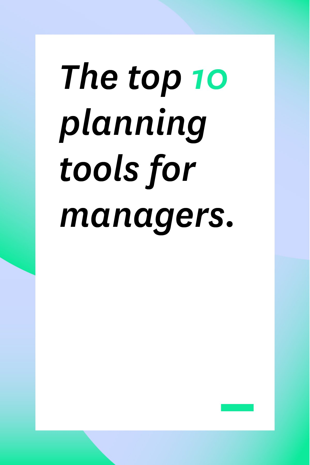 These 10 planning tools will help you manage your employees, schedules, and projects with ease. #projectplanning #officemanagement