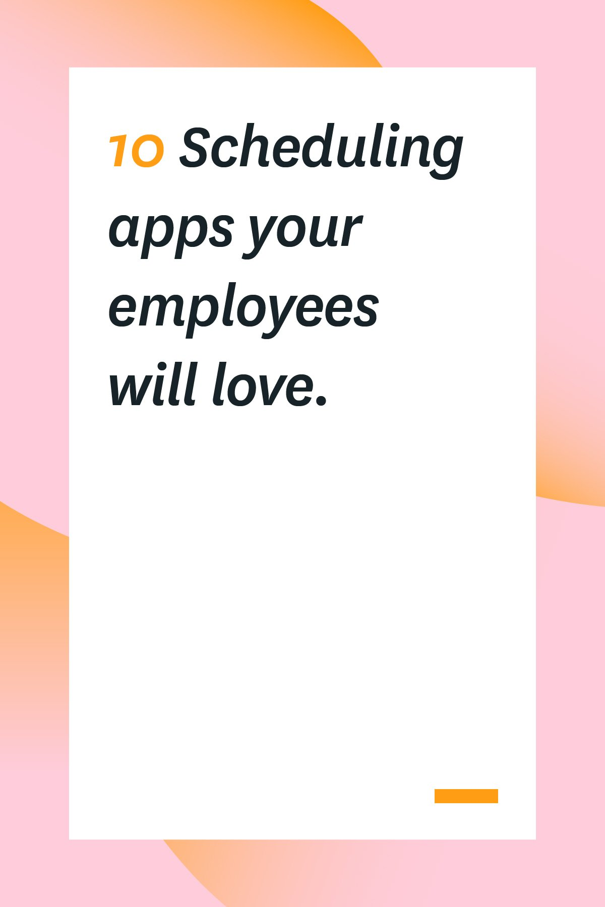 It's not always easy to gather a team together for a meeting or event. In today's digital world, teammates are no longer just a carpool away. They are scattered across the globe, in separate time zones, with entirely different schedules. These 10 scheduling apps will make your job much easier, and your employees will love how easy they are to use. #workschedule