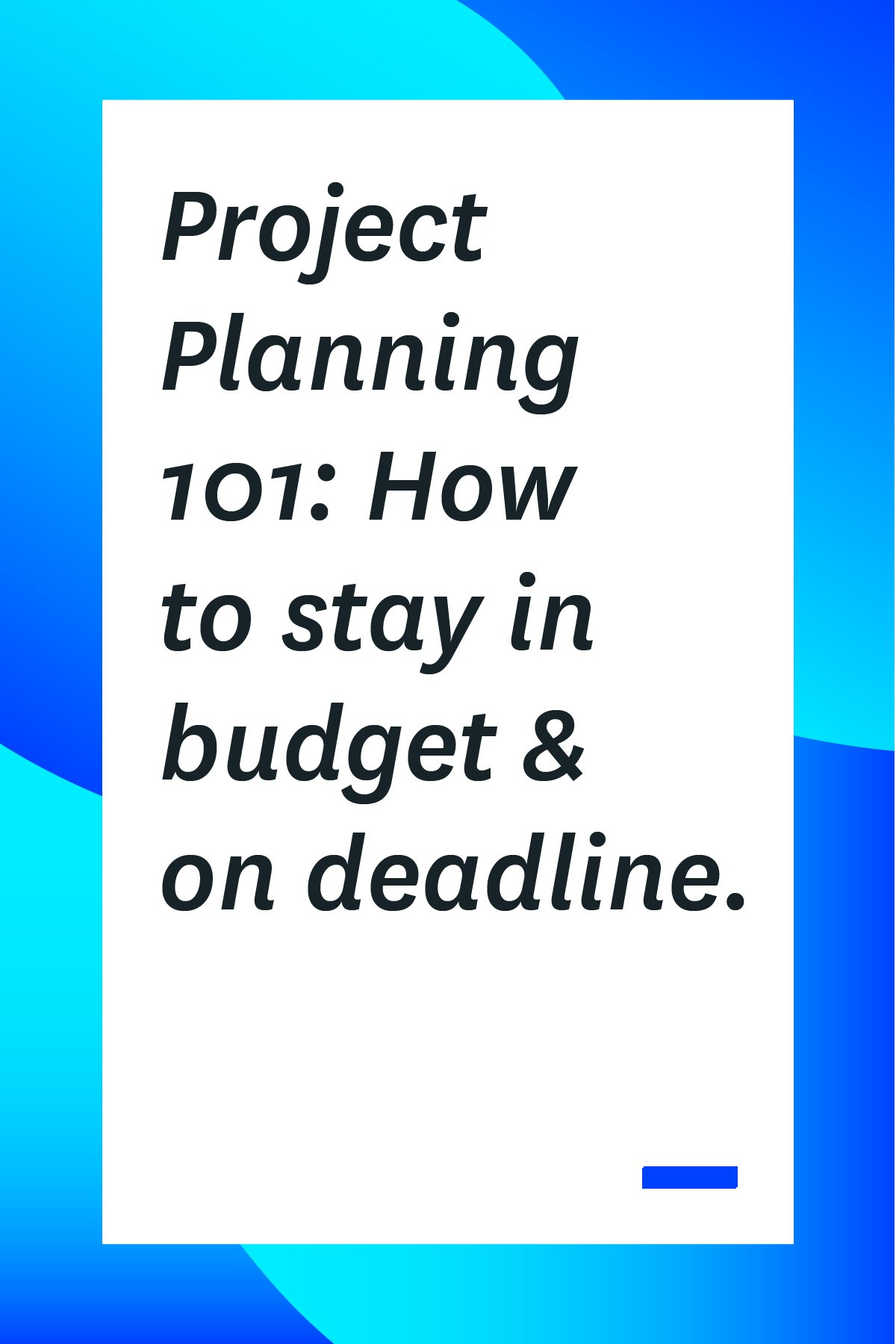 If your team struggles to finish work projects on time and within budget, you're not alone. These project planning tips will help, click through and read now! #projectplanning #projectmanagement