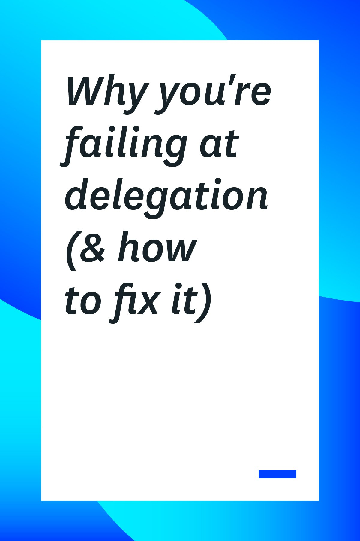 If you're a team lead or manager, one of your jobs is delegation. Here's why you're failing at delegation and how to delegate to your team members more effectively. #tipsformanagers #management