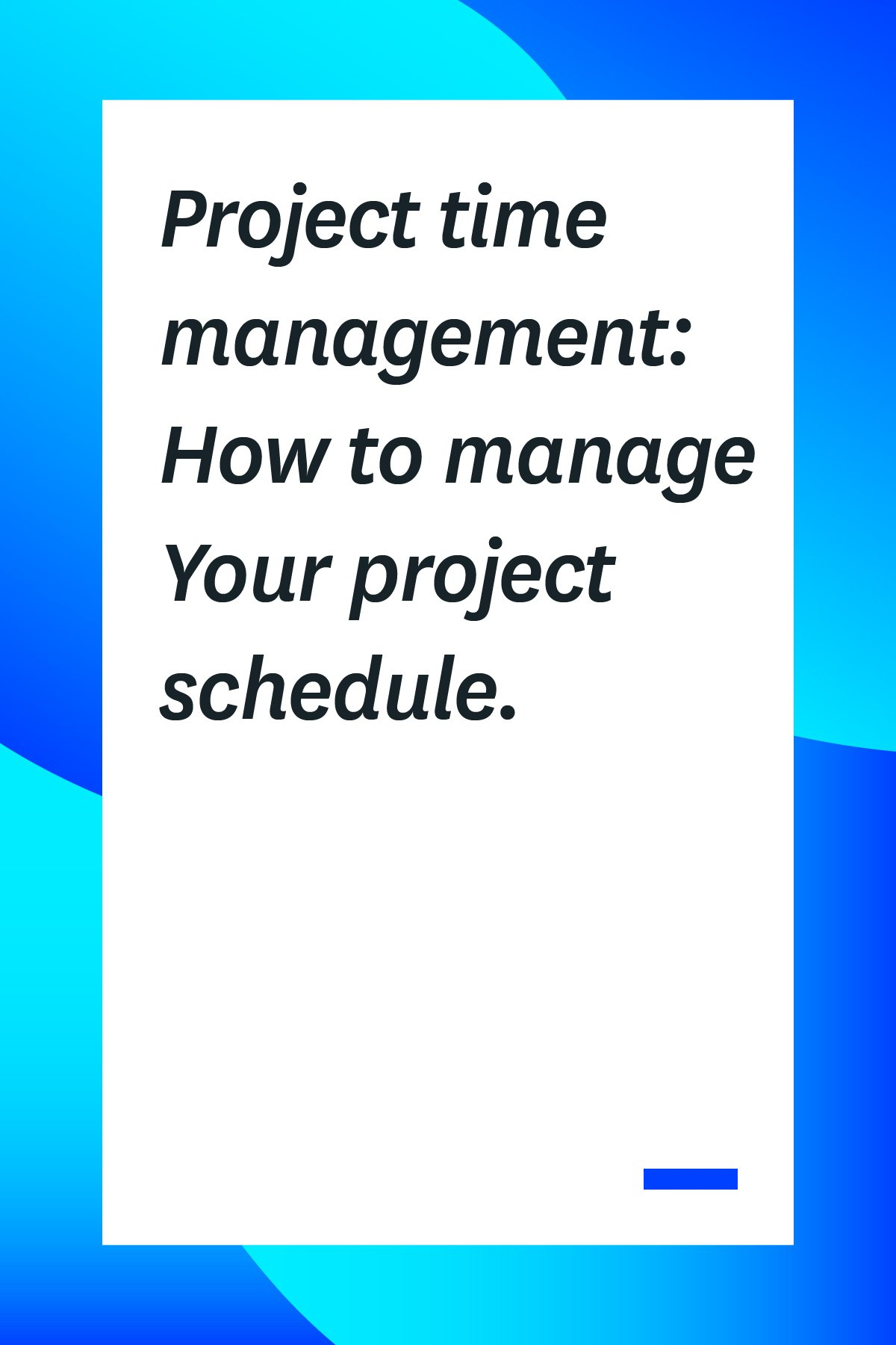 If you're managing a project, you need to master project time management. If everything is scheduled perfectly, but you don't manage your time correctly, the project could still end in failure. Here's our tips to ensure that doesn't happen! #projectmanagement #projectmanagementtips