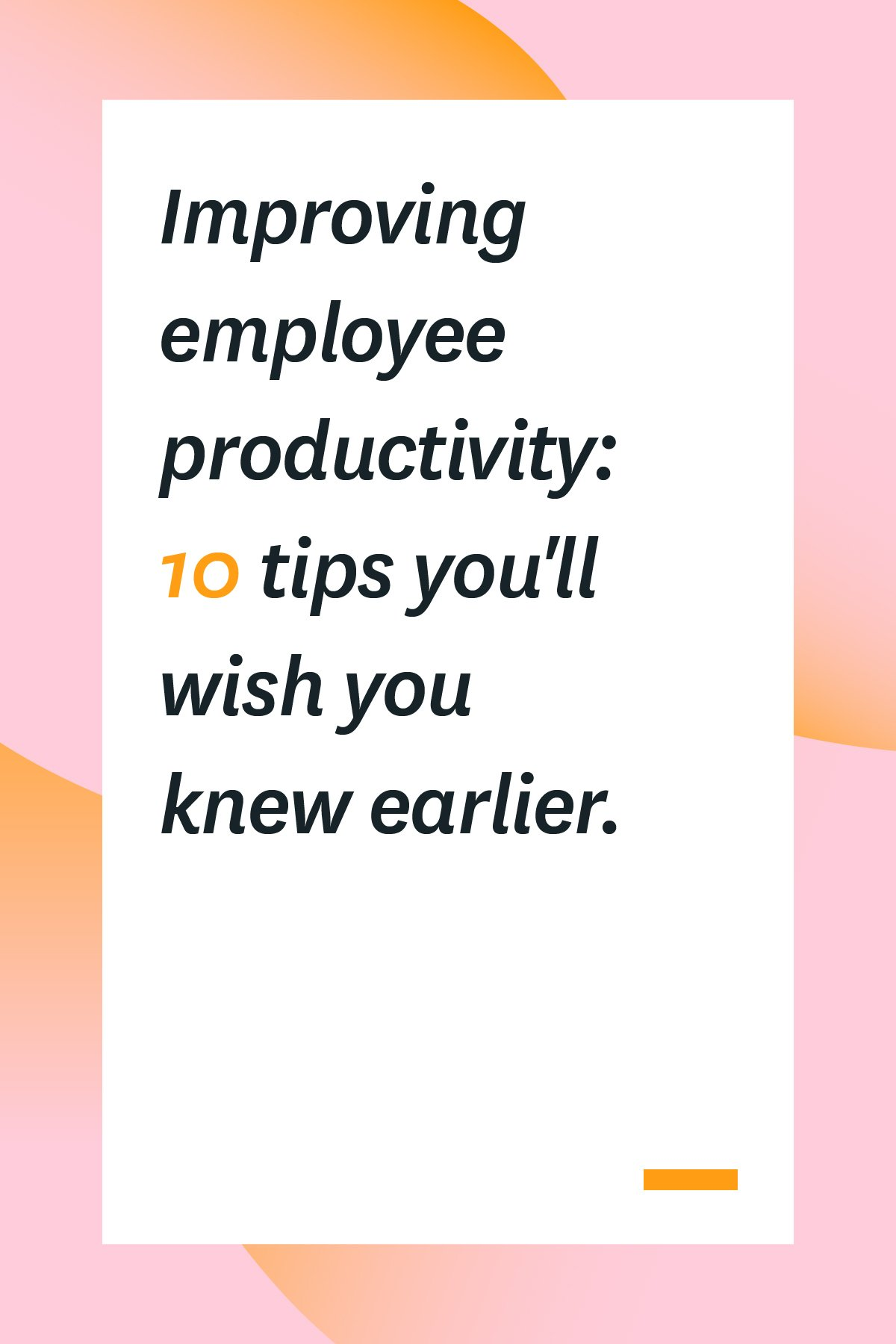Running out of ideas for improving employee productivity? These 10 tips will help you motivate your employees to be more productive. #productivity #productivityatwork