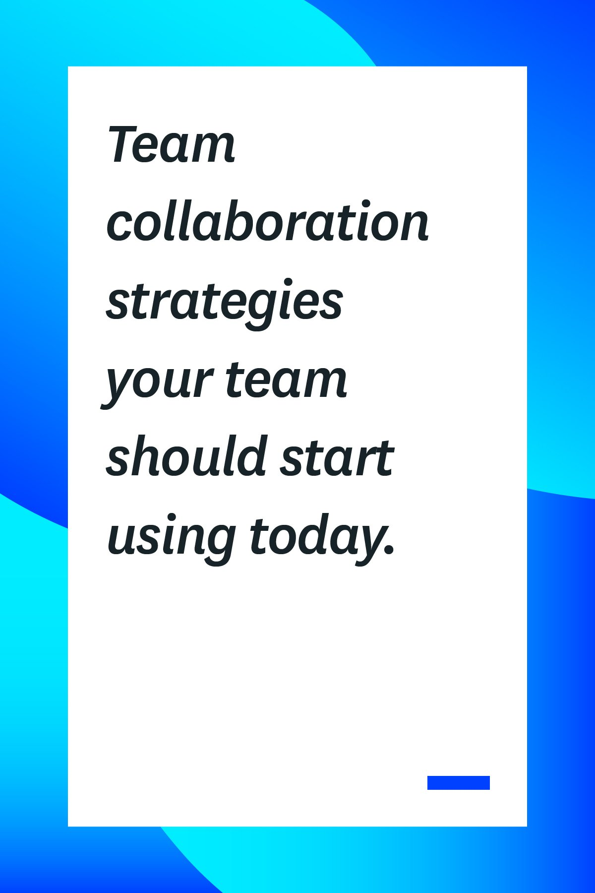 By using the right team collaboration strategies, you can improve your group dynamic and create a more productive team atmosphere. Here are 10 tips to help you start fostering team collaboration.