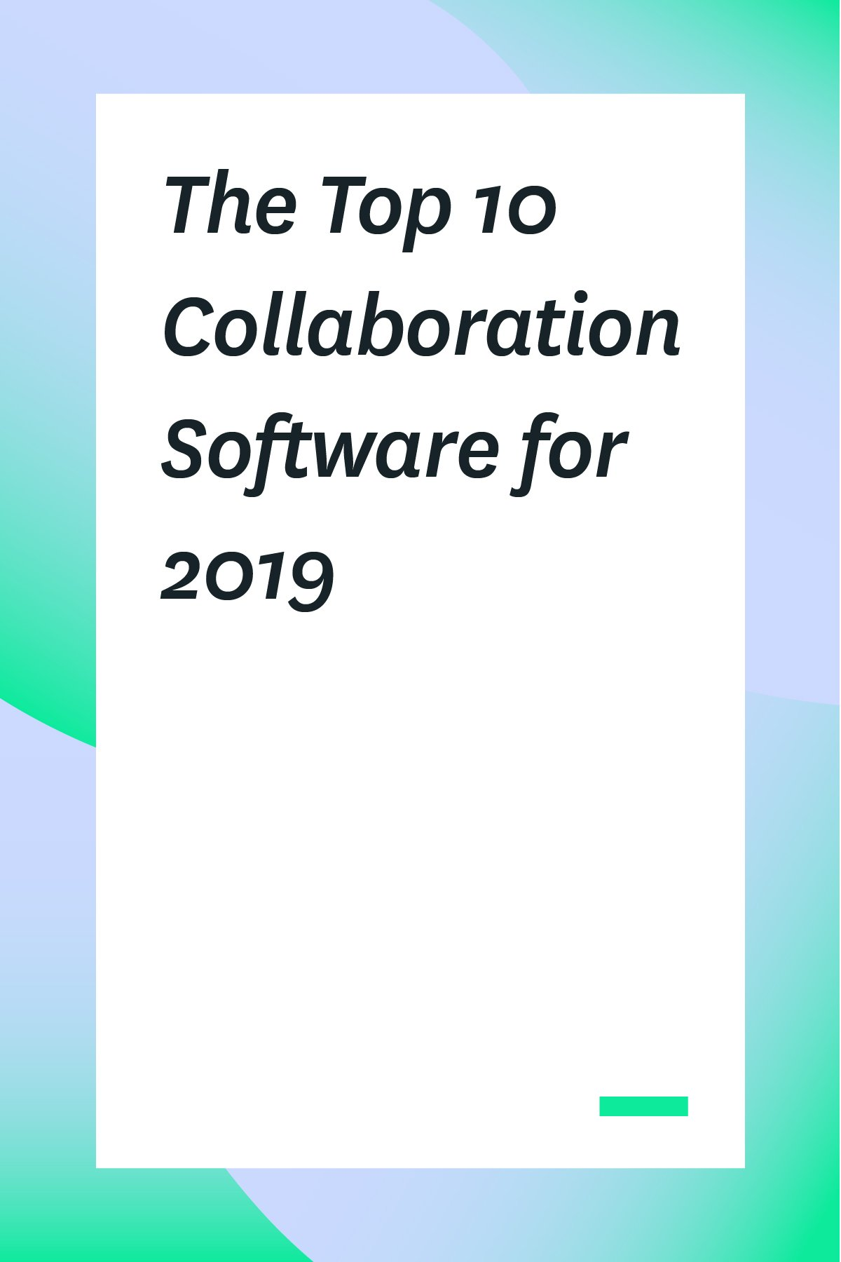 Looking for a better way to communicate with your team? Start with one of these collaboration software options. Once you have the proper collaboration tool, you'll be amazed how quickly everything falls into place.