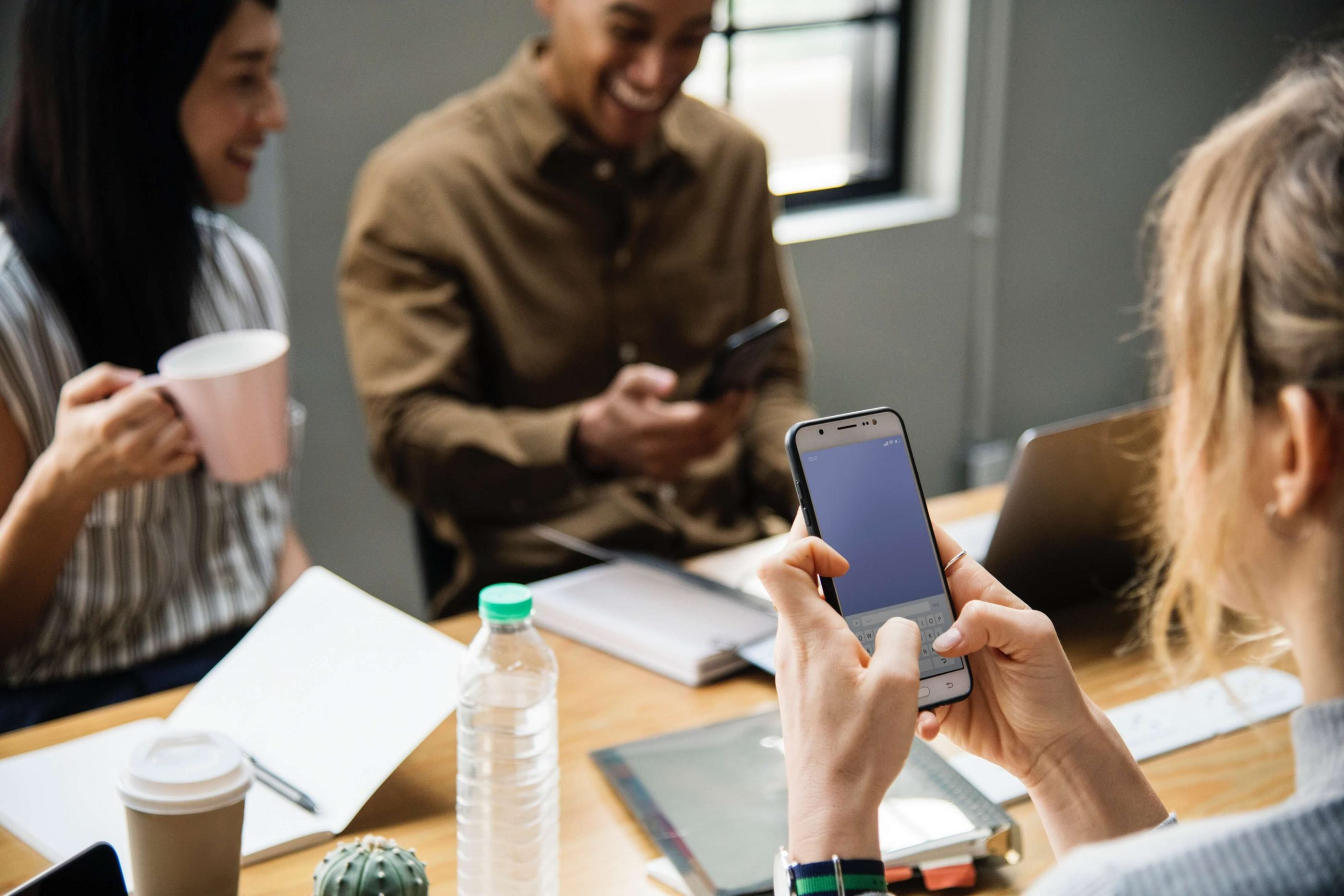 Team meetings can be derailed when people use their cell phones during the meeting.