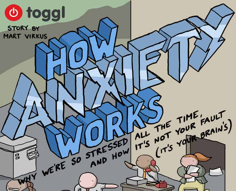 Snippet of How Anxiety Works comic
