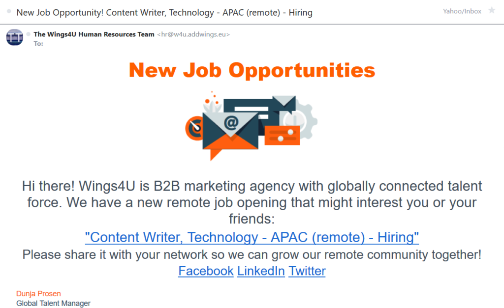 email marketing for recruiters
