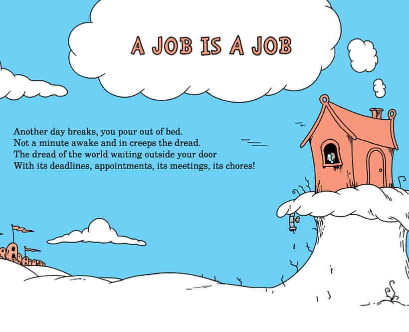 Snippet of A Job is A Job comic