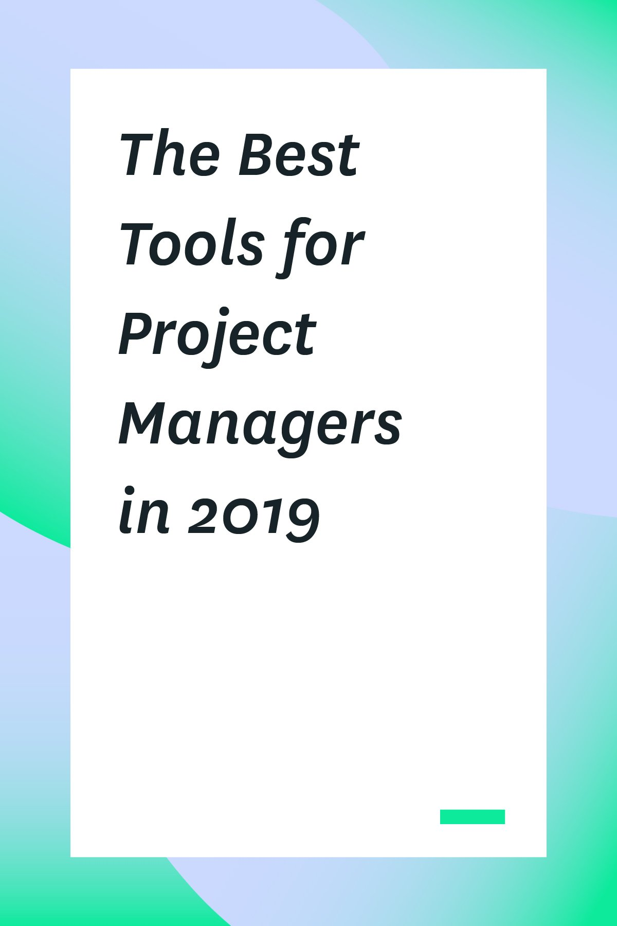 This list of the best tools for project managers will help you stay on top of your projects and improve your team's productivity. #projectmanager #projectmanagementtools