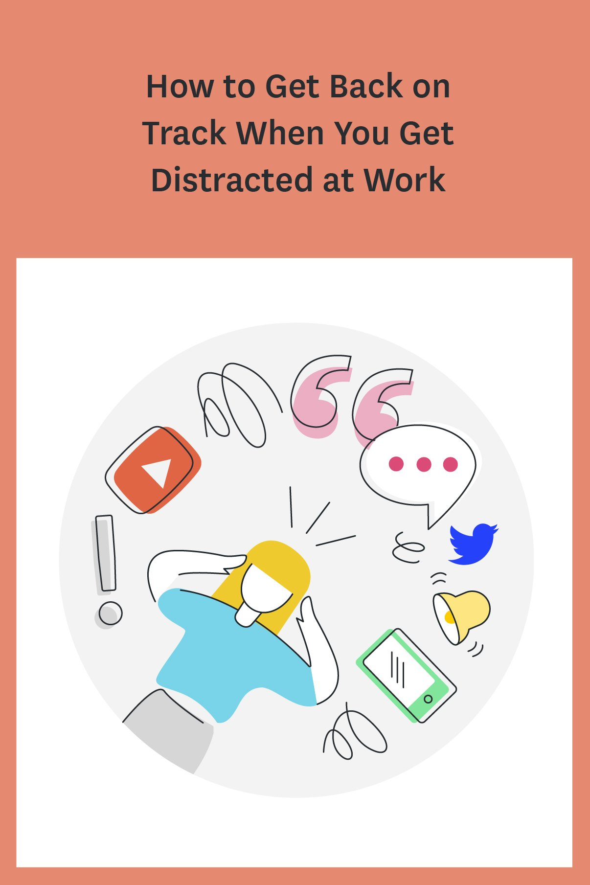 Find yourself getting distracted at work? Between social media, chatty coworkers, needy bosses, and the demands of your daily to do list, it's easy to get distracted. Here are 7 ways to get back on track after you get distracted.