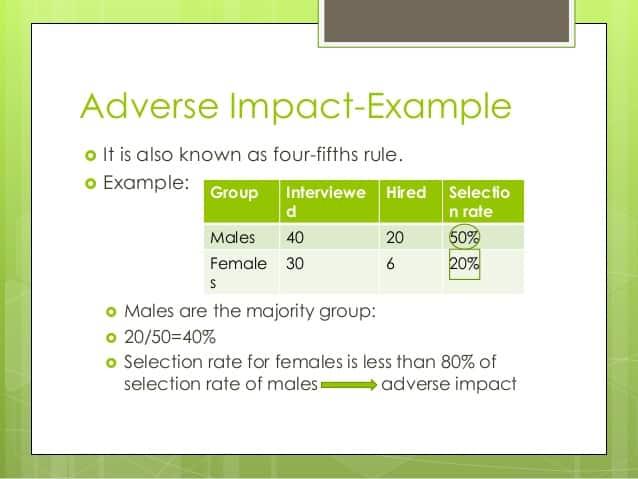 adverse impact example