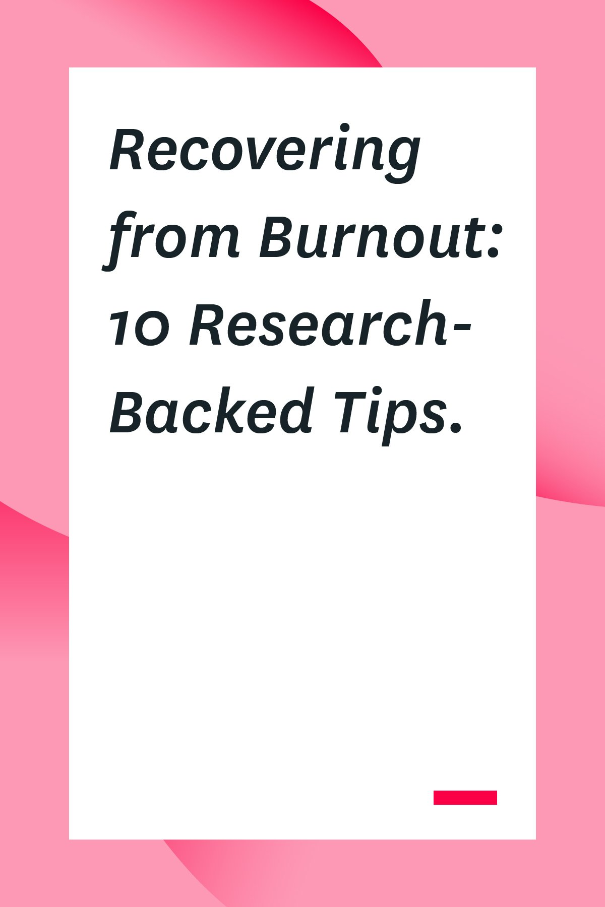 Work burnout can impact your career, your health, and your family life. If you're feeling burnt out at work, read these tips on how to recover so you can feel happy and productive again.