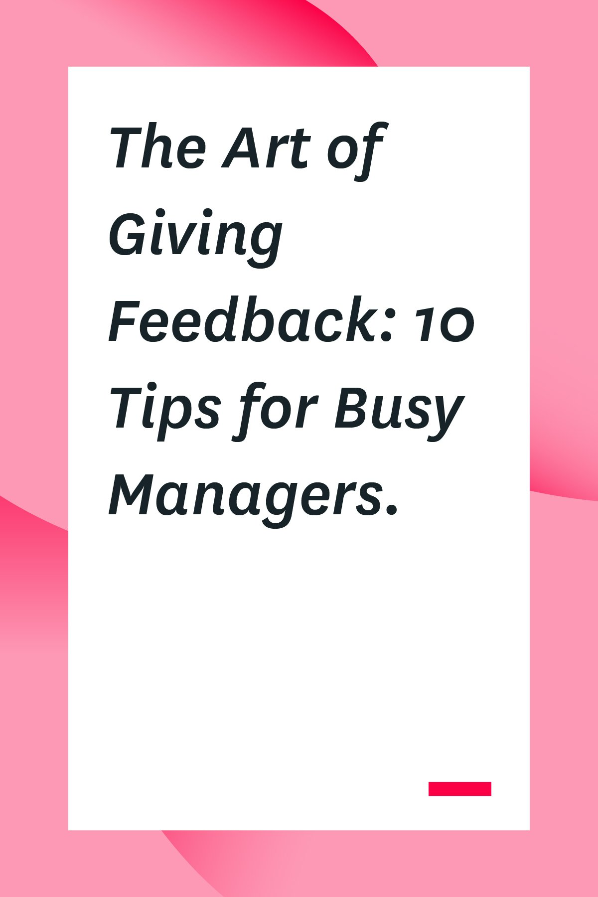 Whether you're giving positive feedback or need some tips for giving negative feedback, we've got you covered. Here's how to give feedback to your employees in a way that's respectful and useful.