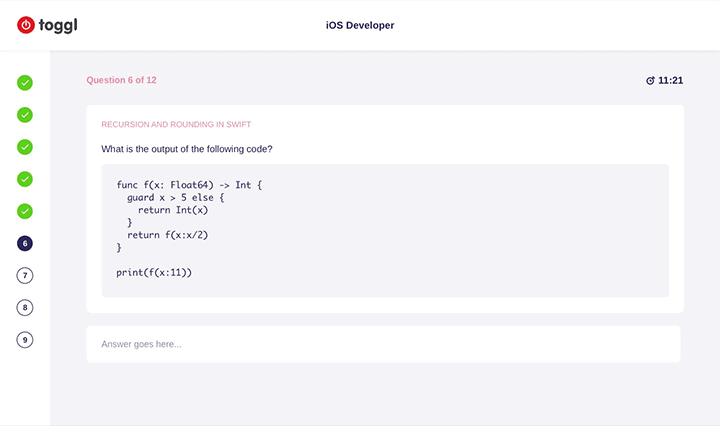 toggle ios developer