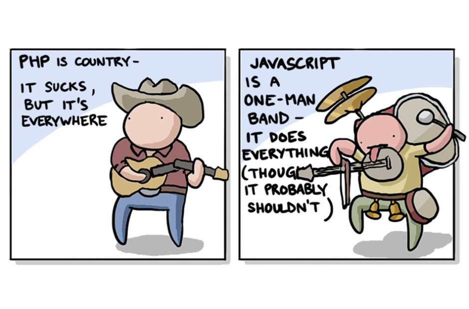 Programming Languages Explained with Music Comic