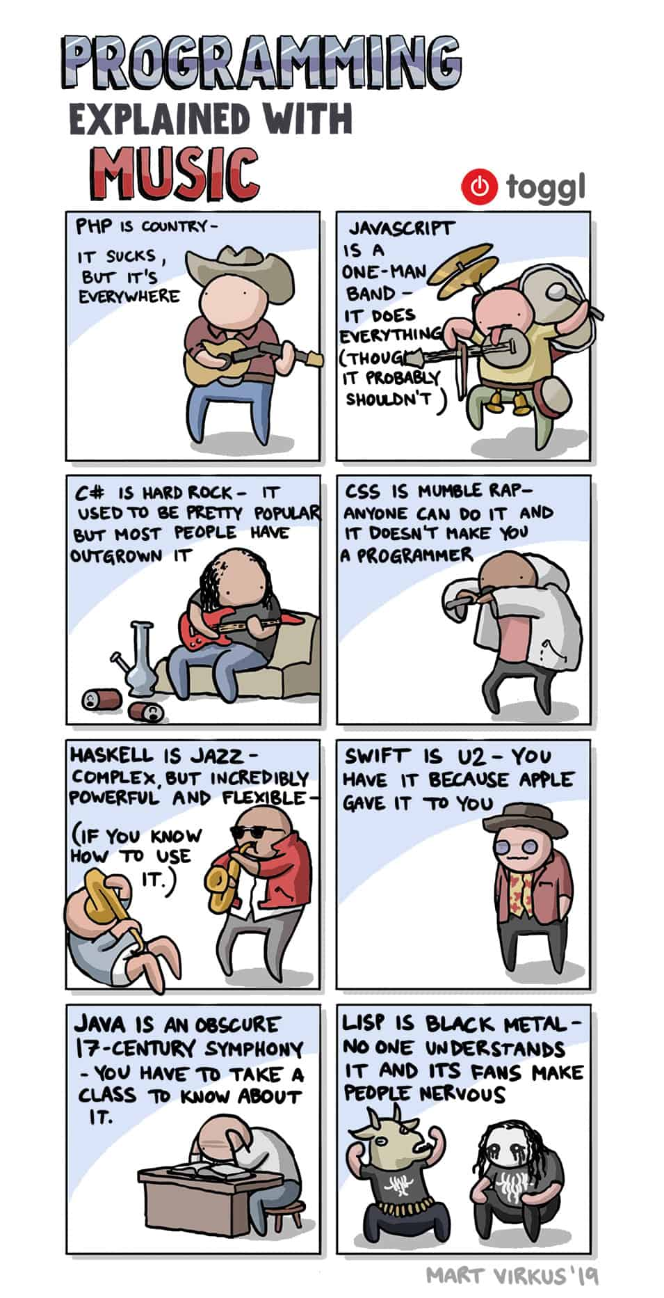 Programming Explained with Music comic