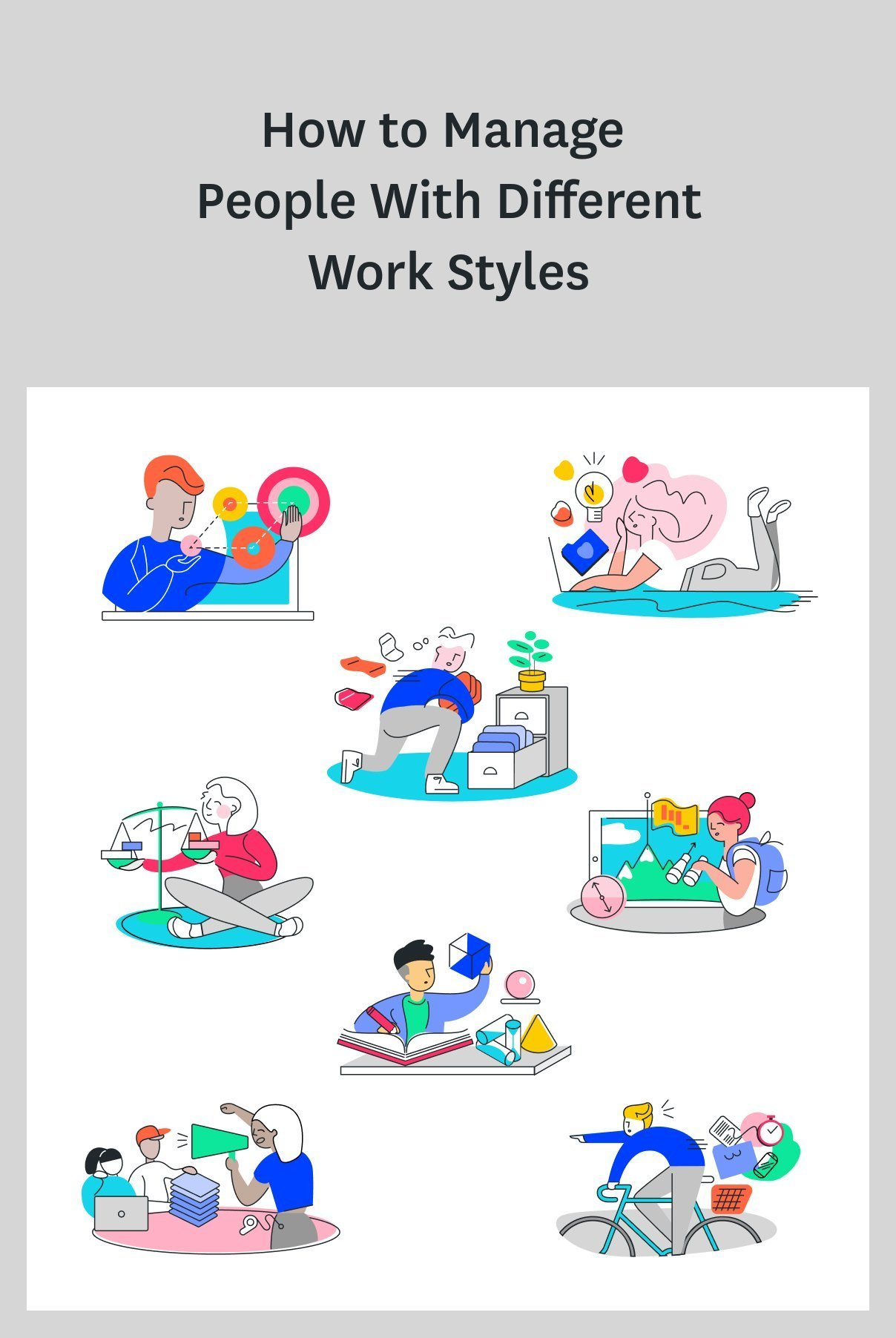If you're a manager, you've probably noticed that what works for one employee doesn't always work for someone else. The fact is: your team members have different work styles, and as a manager, it's your job to cater to each style and figure out the best way to motivate and influence each team member. Get tips on managing people with different work styles in this post. #managertips