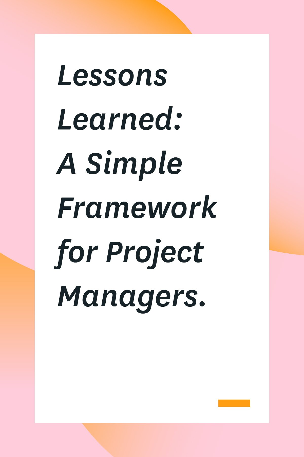 "Each project is a learning opportunity. You gain insights into how teams work and processes develop, and you can use those insights to create better teams, implement changes that work, and deliver more successful projects. But this only works IF you document all lessons learned and analyze what went right (or wrong).Click through to learn how to set up your own ""lessons learned."""