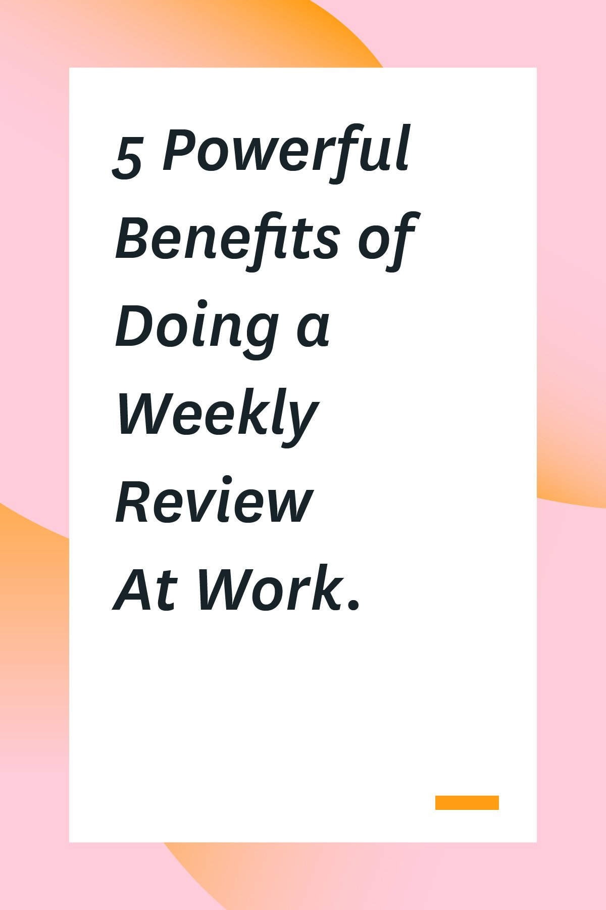 Do you do a weekly review of your tasks and accomplishments at the end of your work week? If the answer is no, you should start now! Here's why, plus tips on doing your own weekly review and reviews with your team members. #managers #managertips #productivity #timemanagement