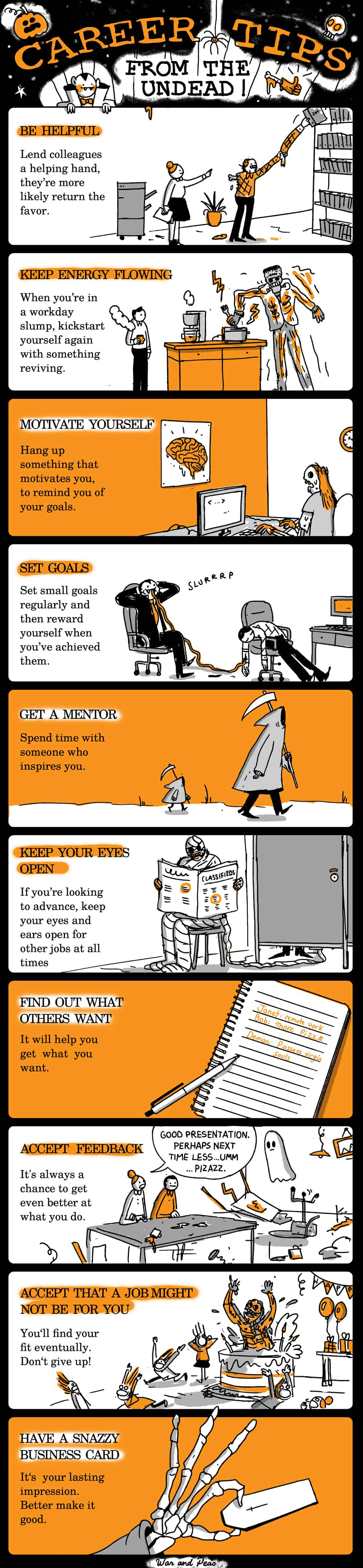 Halloween career tips from the undead