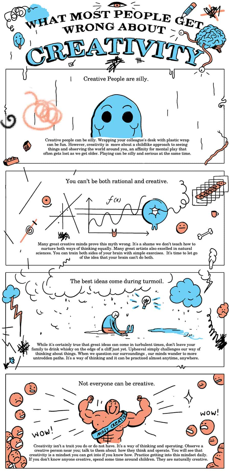 What Most People Get Wrong about Creativity comic