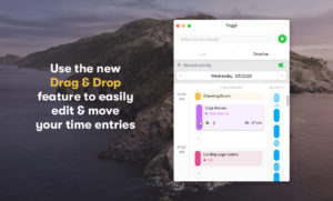 Use Drag & Drop to easily move your time entries