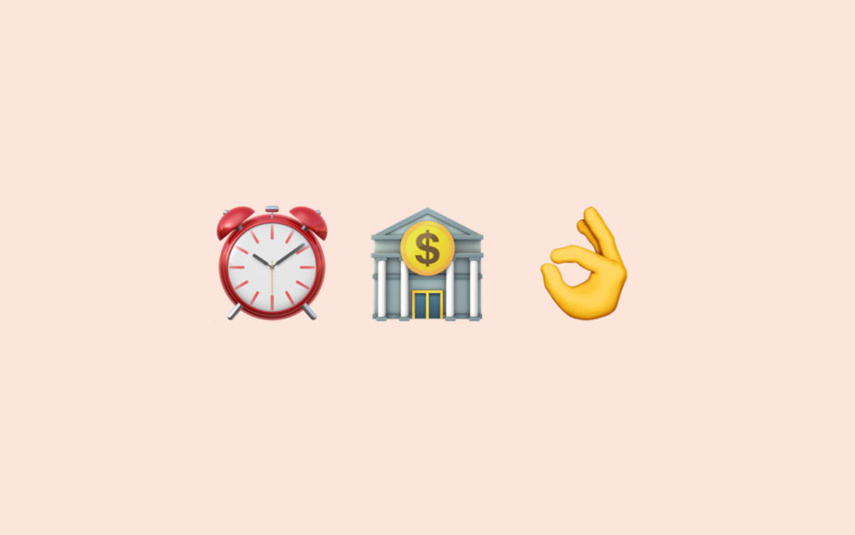 emojis of a clock, bank and a ok hand which shows that toggl makes tax time easier using time tracking and billable hour functionality