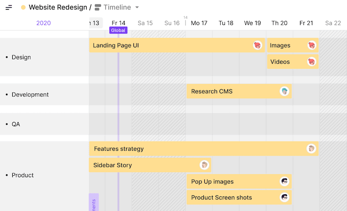 Toggl Plan Project Plan Timeline