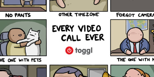 a tiled image of people on a video call