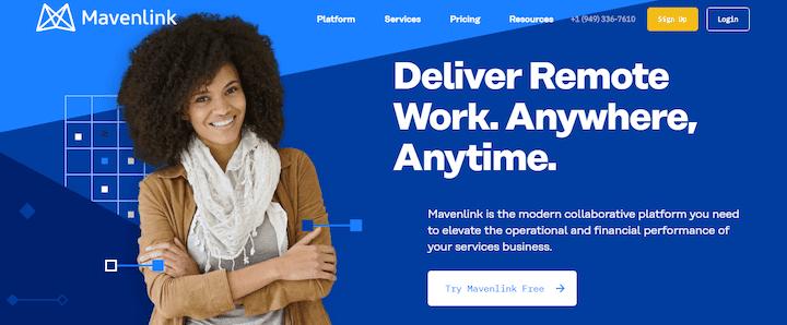 MavenLink - Remote management for services businesses