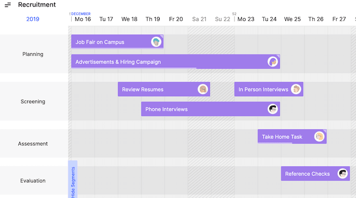 Toggl Plan - Project Plan Timeline