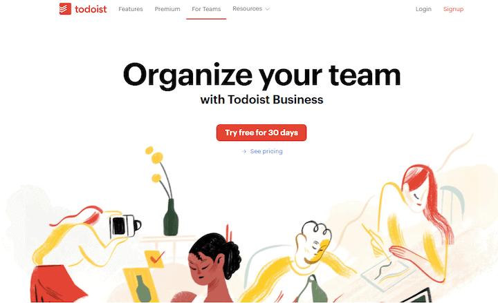 Todoist - Task management Asana alternatives