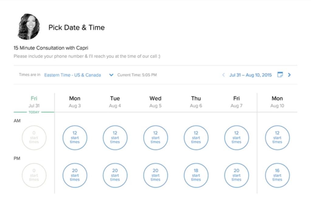 Calendly shared calendar app