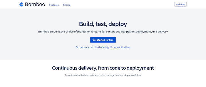 Bamboo Continuous Integration & Deployment Server For Agile Projects