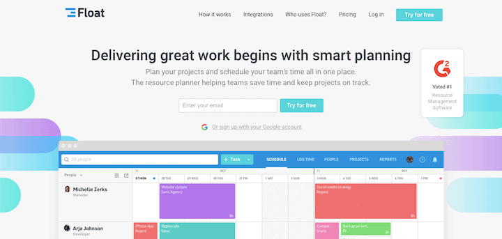Float - resource scheduling software