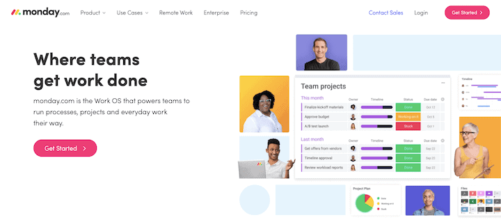 Monday.com - online collaboration and project management tool