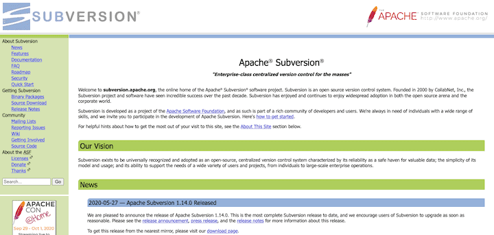 Apache Subversion - Version Control Tool