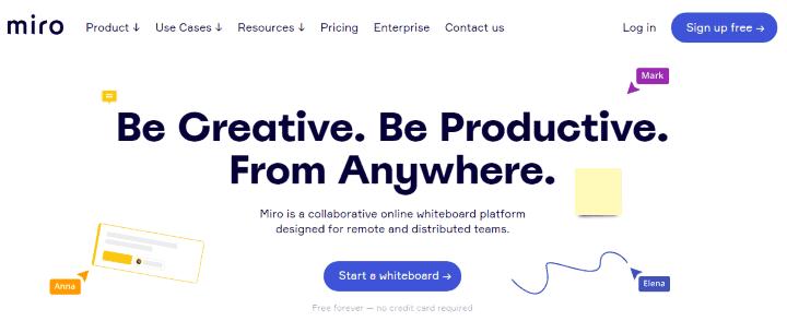 Miro team collaboration software