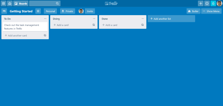 Trello Kanban Boards are easy to use