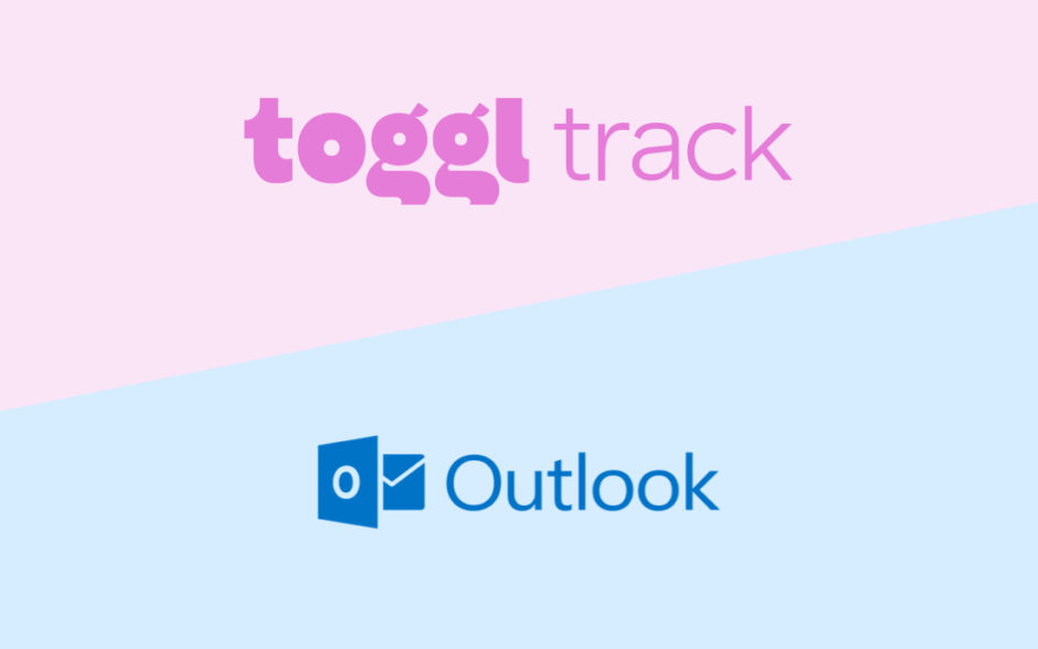 a image of the toggl track and microsoft outlook logos together