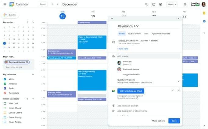 Google Calendar For Google Workspace