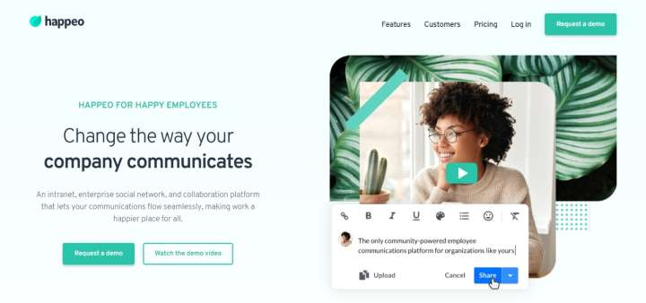 Happeo - Intranet Collaboration Software