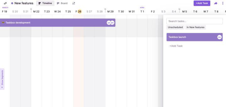 Capture unplanned tasks using the Toggl Plan task box