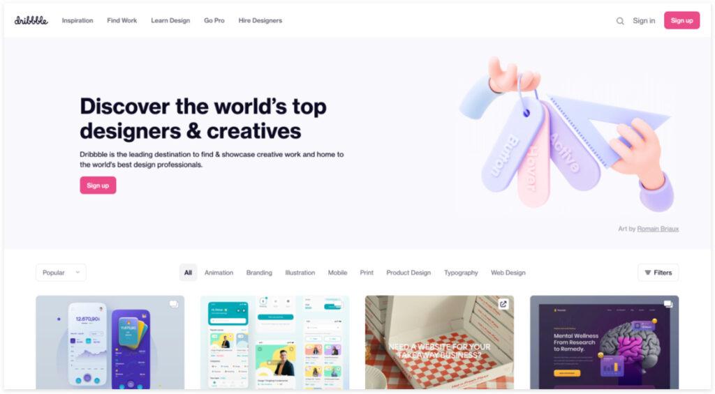 Best Freelancer Websites For Every Type Of Freelancer In 2021 Dribble 1024x565