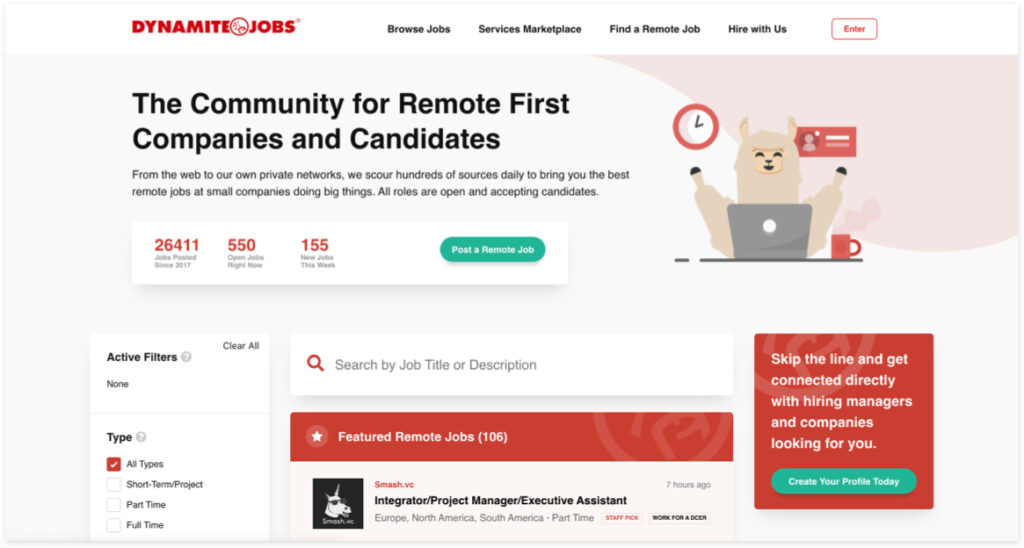 Best Freelancer Websites For Every Type Of Freelancer In 2021 Dynamite Jobs 1024x548