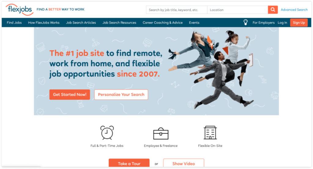 Best Freelancer Websites For Every Type Of Freelancer In 2021 Flex Jobs 1024x553