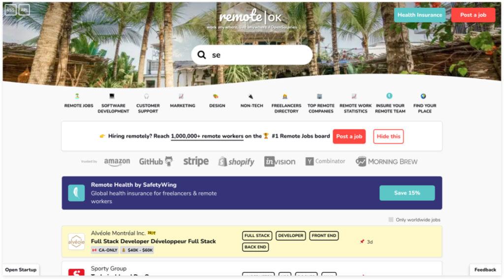 Best Freelancer Websites For Every Type Of Freelancer In 2021 Remote OK 1024x566