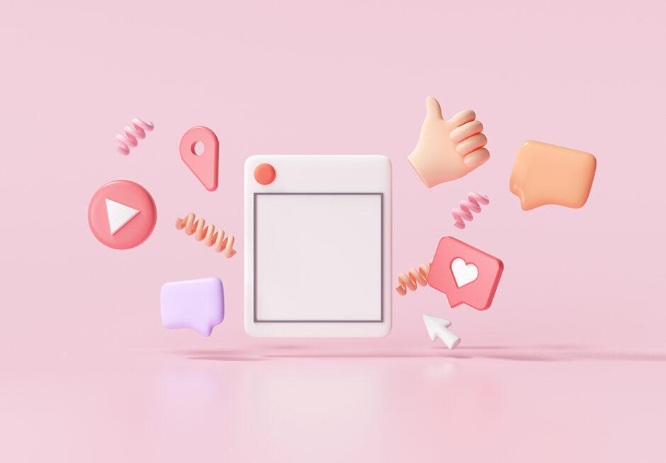 a mash up of computer symbols and a thumbs up
